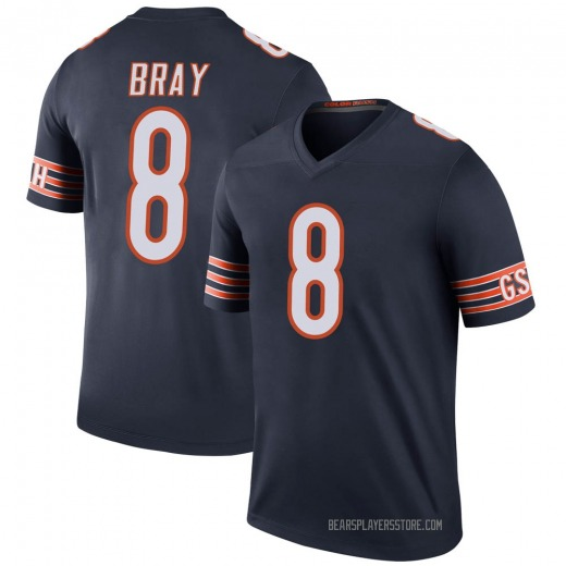 Tyler Bray Youth Chicago Bears Nike Color Rush Jersey - Legend Navy